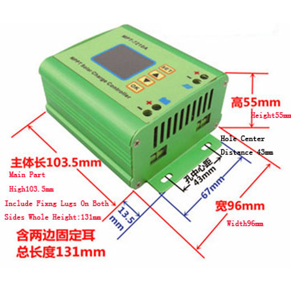 MPPT-7201A solar charge controller used in solar photovoltaic systems, coordination of solar panels to charge the battery