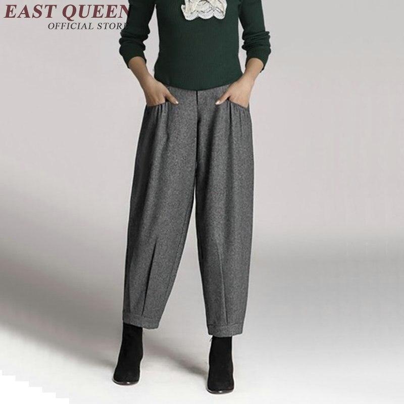 Baggy pants women ladies elegant business office pants trousers autumn winter harem pants women AA2980 Y