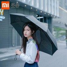 Xiaomi guarda chuva dobrável wd1 23 polegadas, guarda chuva forte à prova d água e contra o vento