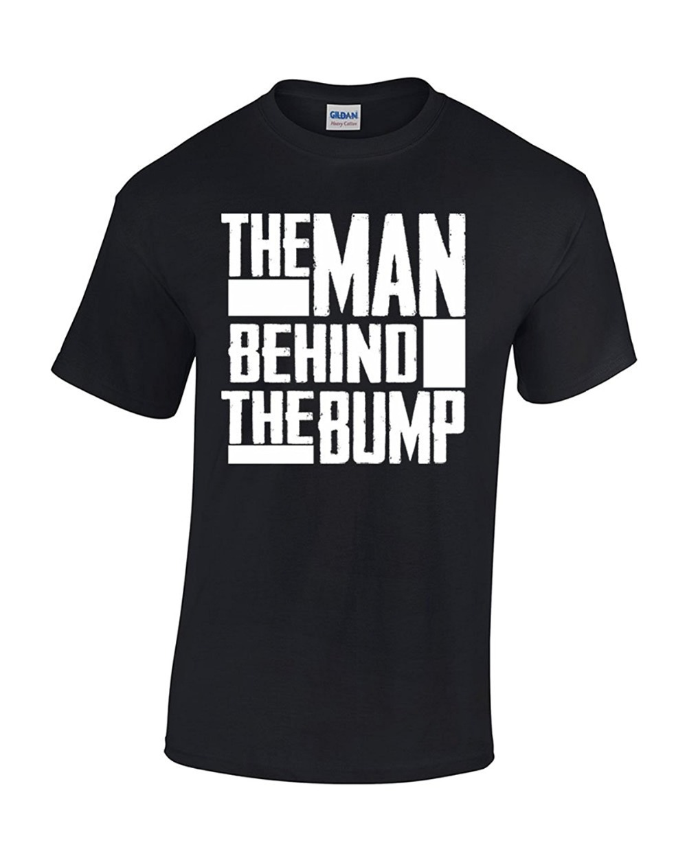 Newest Funny Man Behind The Bump Proud New Father Pregnancy Mens T-Shirt Printed t shirt Men t shirt Casual Tops ...