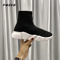 Women Casual Flats Shoes Stretch Fabric Boots Mesh Shoes Woman Fashion Espadrilles Sneakers Women High Quality Luxury Brand Boot