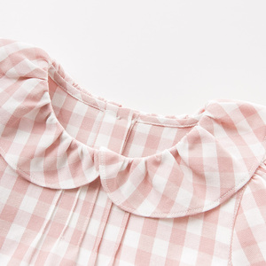 Image 3 - DB11649 1 dave bella autumn baby girls cute plaid shirts infant toddler 100% cotton tops children high quality clothes