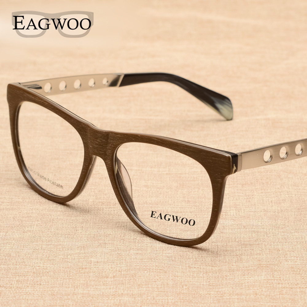 Slitina Acetate Full Rim Vintage Retro Nerd Optical Frame Prescription Brýle Frame Man New Arrival Fashion Spectacle 9020