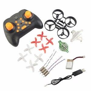 Image 1 - Bricolage Min Drone RC télécommande hélicoptère une clé retour sans tête quadrirotor hélice moteur batterie récepteur conseil accessoires
