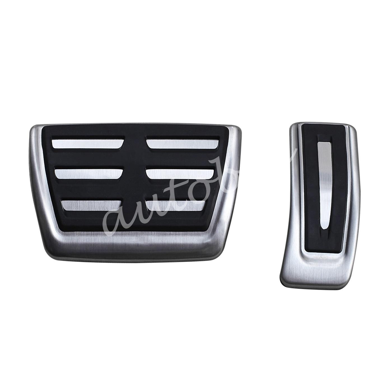 Gas Brake Pedal Cover For New Audi A4(B9) A5 Q5 Q7(4M) Non-Slip Steel Foot Accelerator Fuel Pad Accessories
