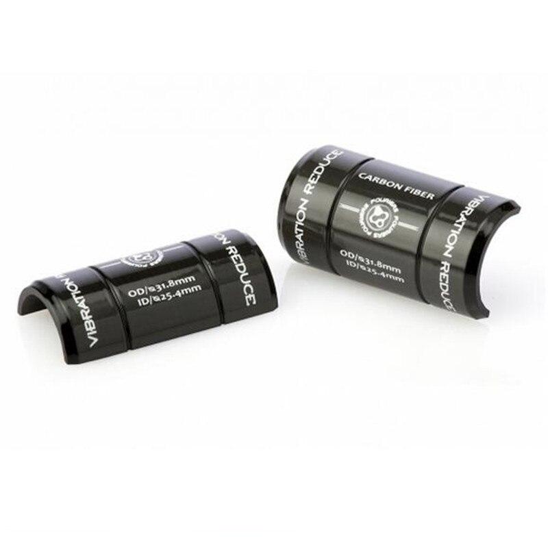 Black Carbon Fiber Handlebar Shim Reduce Adapter 35mm 26mm 25.4mm To 31.8mm Tool
