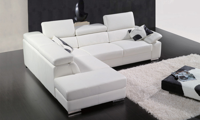 modern l shaped sofa modern l shaped sofa prato with led lights leathersofa white black thesofa. Black Bedroom Furniture Sets. Home Design Ideas