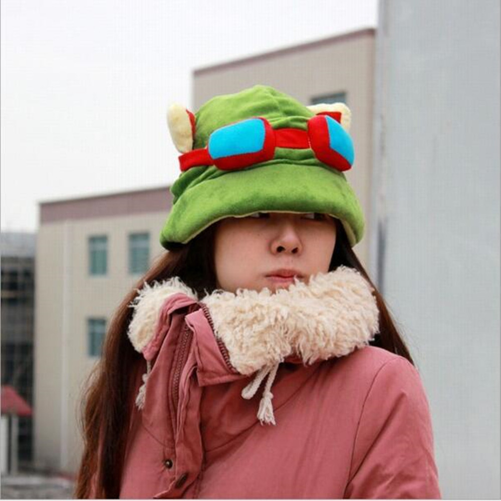Rammus cute LOL plush hat High Quality big minion plush & minion toys for kids New Teemo Cosplay Caps 1PC Free shopping