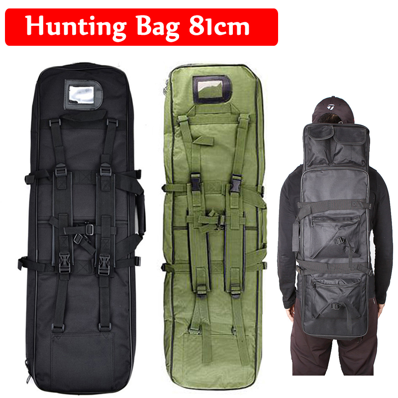 Hot Sale About 81cm Tactical Hunting Bag Backpack Shooting Military Rifle Bags Outdoor Hiking Camping Shoulder Backpack