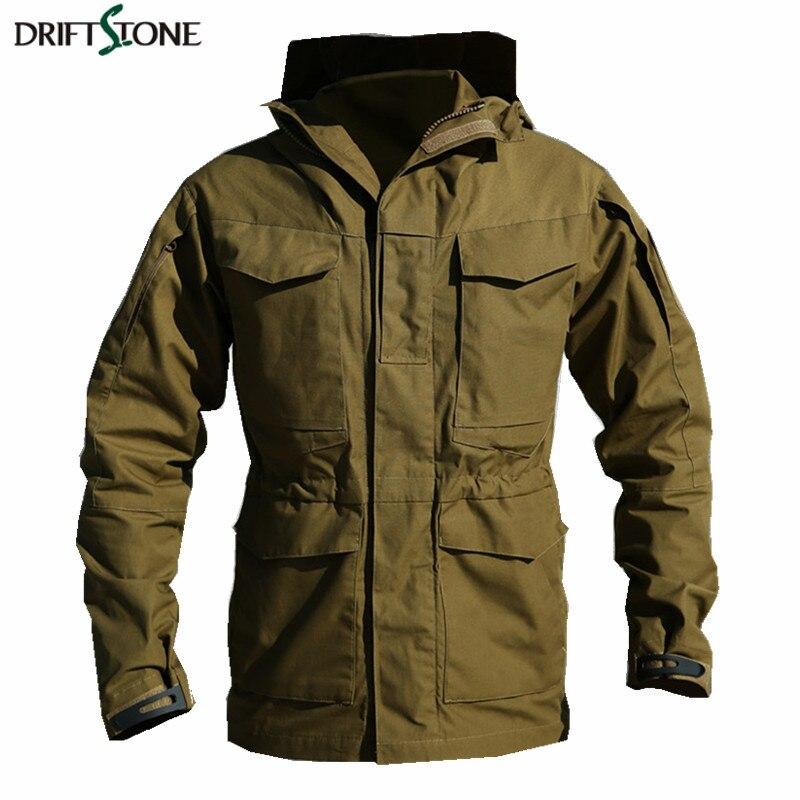 New autumn Large Size brand military Fleece Coat jacket Man pockets stand collar design plus size