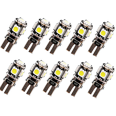 New Arrival 10 X Canbus Error Free White T10 5-SMD 5050 Interior LED Light Bulbs W5W 194 168Car Auto