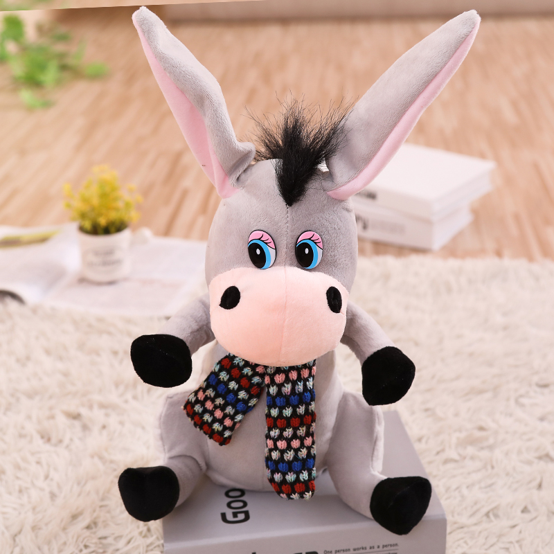 Talking Flapping Ear Donkey speaking plush toys Electronic stuffed animals for children girls boys baby Humor