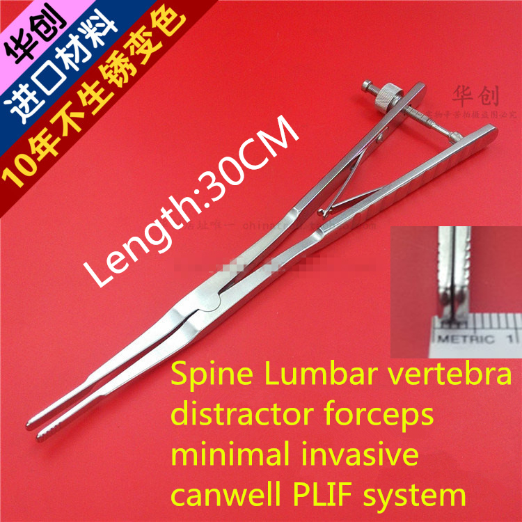 medical orthopedic instrument Spine Lumbar vertebra distractor forceps minimal invasive canwell PLIF system Retractor Pliers medical orthopedic instrument spine cervical vertebra distraction screw screwdriver distractor holder handle minimally invasive