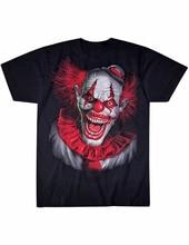 Rude T Shirts herren Kurzarm Zomer Crew Neck Neue Scary Slavering Fanged  Clown T-Shirt Nicht Alle Spaß Und Spiele Große T Shirts