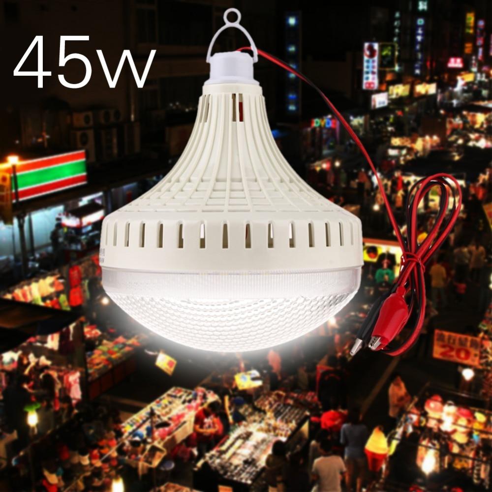 купить Mini Portable Camping Lights DC 12V-85V Waterproof 12/30/45W LED Bulb Lamp Tent Night Hanging Light Outdoor Tools MFBS недорого