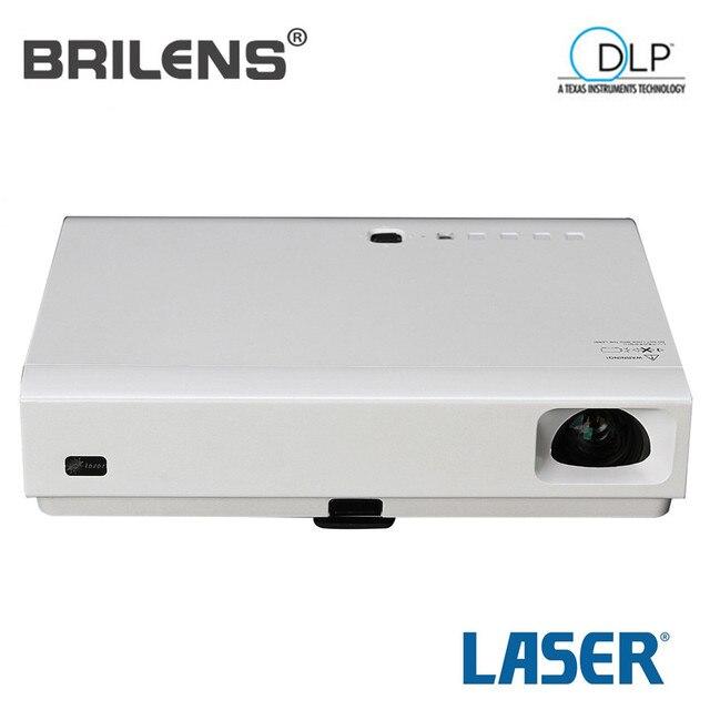 Brilens LS1300 4000 люмен Развлечения Домашний Кинотеатр Лазерный Проектор + 2 LED Светодиодные Огни Высокой люмен Проектор Открытый 23 Языков