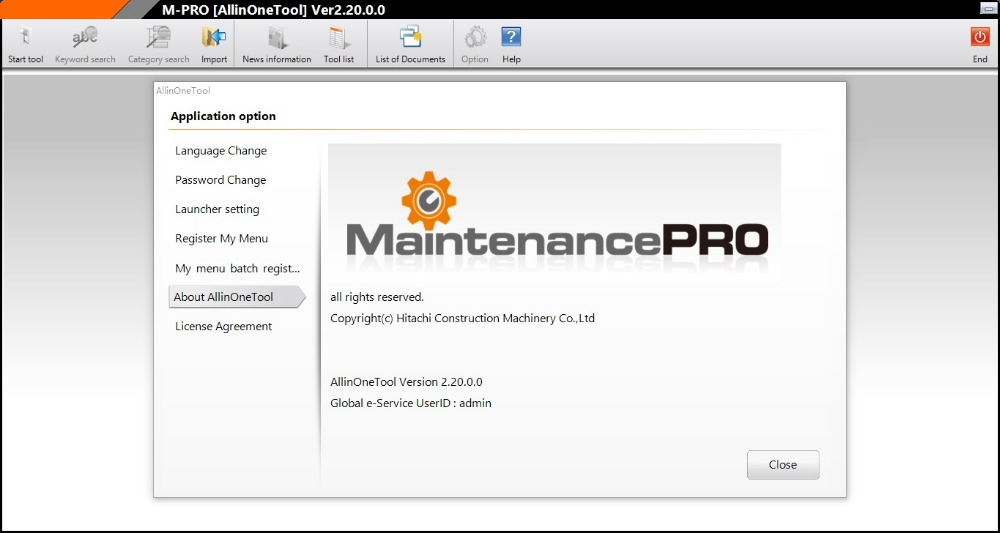 HITACHI M-PRO ALL IN ONE TOOL V2.20.0.0 [ Expire To 2099 Tier-4 ]