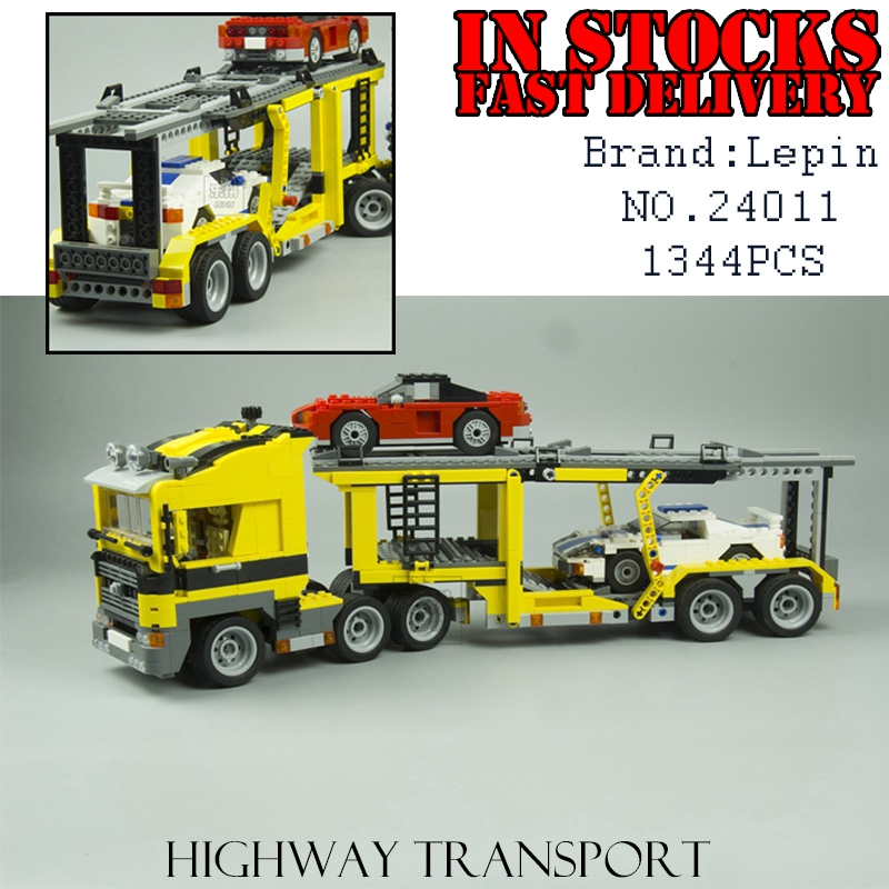 LEPIN 24011 Technic Series The Three in One Highway Transport car-styling Set Building Block Bricks Toys for children gifts compatible with lego technic creative lepin 24011 1344pcs 3 in 1 highway transport building blocks 6753 bricks toys for children
