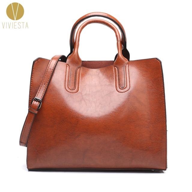 a2934eda86fb8d WAXED PU LEATHER STRUCTURED TOTE BAG - Women Minimal Simple Plain Design Top  Handle Shoulder Formal