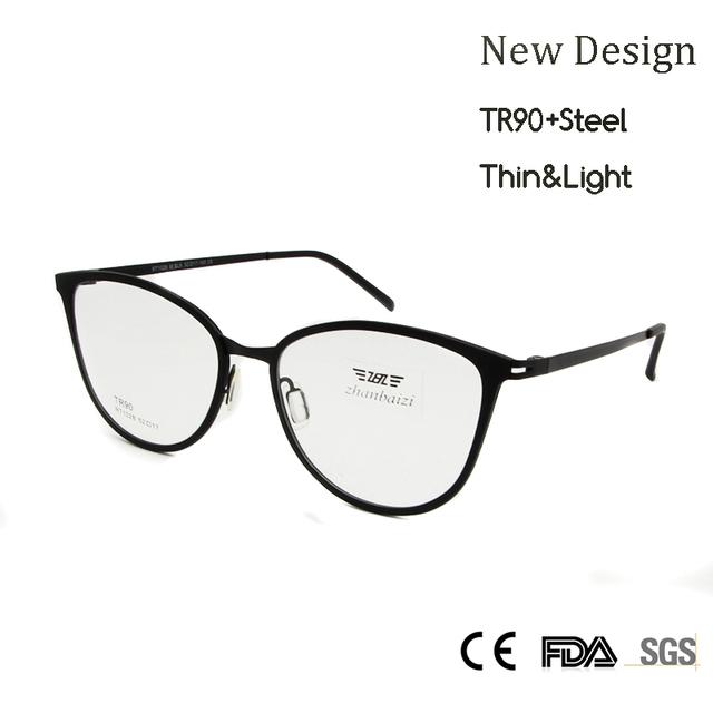 ZBZ Новые Женщины Круглый Оптически Рамки TR90 Супер Свет Оправы в Обычный Объектив Высокого Качества óculos де грау женщина для