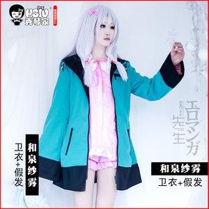Image 3 - HSIU di Alta qualità Izumi Sagiri Cosplay abbigliamento EROMANGA SENSEI Costume del maglione Gioco Costumi di Halloween di trasporto libero del cappotto