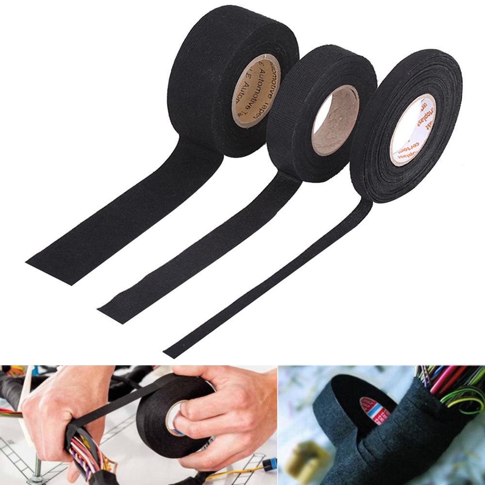 Multiple Sizes Tesa Coroplast Adhesive Cloth Tape For Cable Harness Wiring Loom Electrical Tape Anti Rattle Self Adhesive Felt