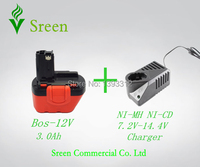 New NI MH NI CD Universal Replacement Power Tools Battery Charger For Bos Ch With 12V
