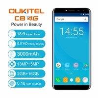 Oukitel C8 4G Mobile Phone MTK6737A Quad Core Android 7 0 2GB RAM 16GB Quad Core