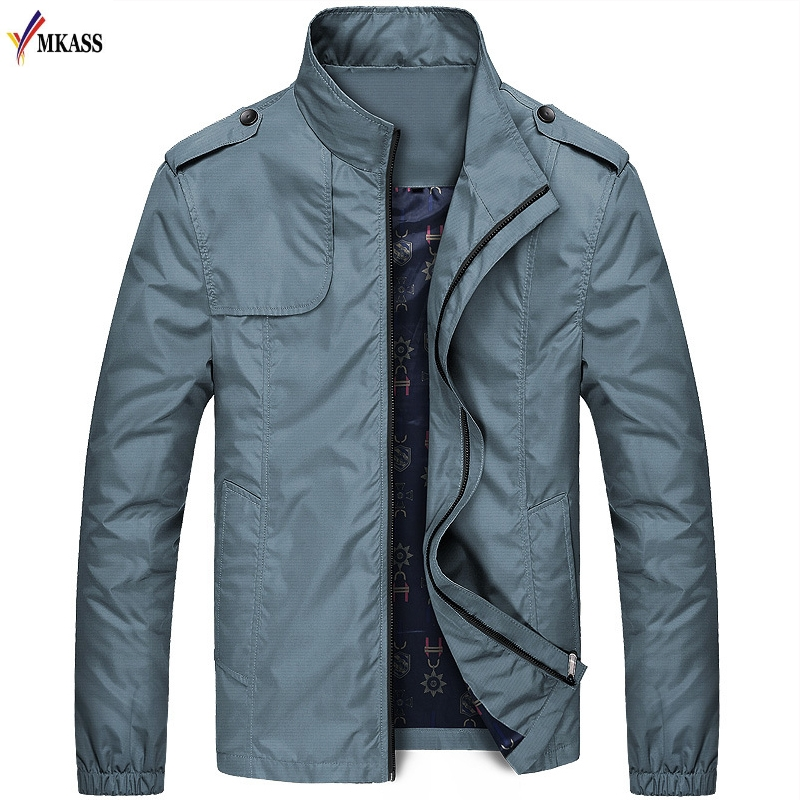 2f7bd5d29ea6c Hot Sale New Spring Thin Fashion Jacket Men Solid Bomber Jacket Slim Fit  Casual Mens Jackets and Coats chaquetas hombre 4XL-in Jackets from Men s  Clothing ...