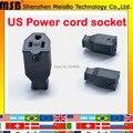 Оптовая Черный Америка 3 pins Elcectrical AC 125 В 15A США шнур Питания кабель онлайн женский разъем питания