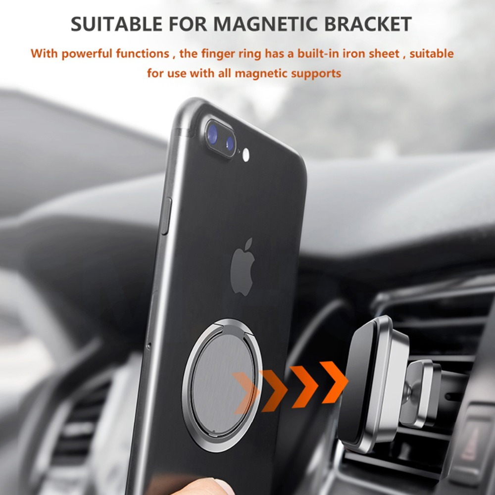 90 Degree Rotatable Smartphone Stand Holder Mobile Phone Finger Ring For iPhone Samsung Huawei Metal Car Mount Stand in Phone Holders Stands from Cellphones Telecommunications