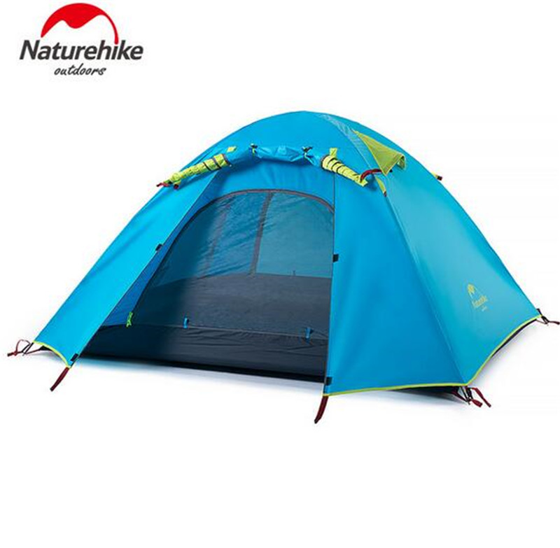 NatureHike 3-4 Person Tent New Arrived Double Layer Outdoor Camping Hike Travel Tent Aluminum Pole Camping Tents outdoor camping hiking automatic camping tent 4person double layer family tent sun shelter gazebo beach tent awning tourist tent