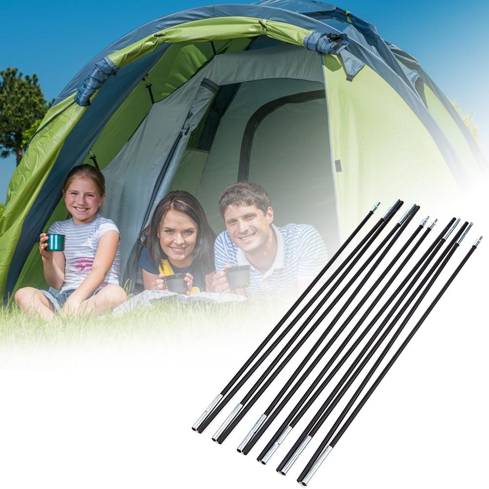 """2 יחידות החלפת חילוף סגסוגת אלומיניום מוט אוהל קמפינג אוהל מוט 7 מ""""מ סופר קל משקל נייד עבור אוהלי קמפינג חיצוני"""