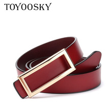 2018 New Arrivals Luxury Cowskin Leather Women Belt Split Solid Strap Female Fashion Woman Thin for Dress Jeans