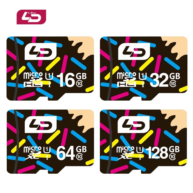 US $5 32 68% OFF|LD Micro SD Card 32GB Class 10 16GB/64GB/128GB Class10 UHS  1 8GB Class 6 Memory Card Flash Memory Microsd for Smartphone-in Micro SD