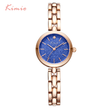 hot deal buy kimio fashion colorful stars shine dial women bracelet watch women's wristwatch rose gold quartz womens watches top brand clock