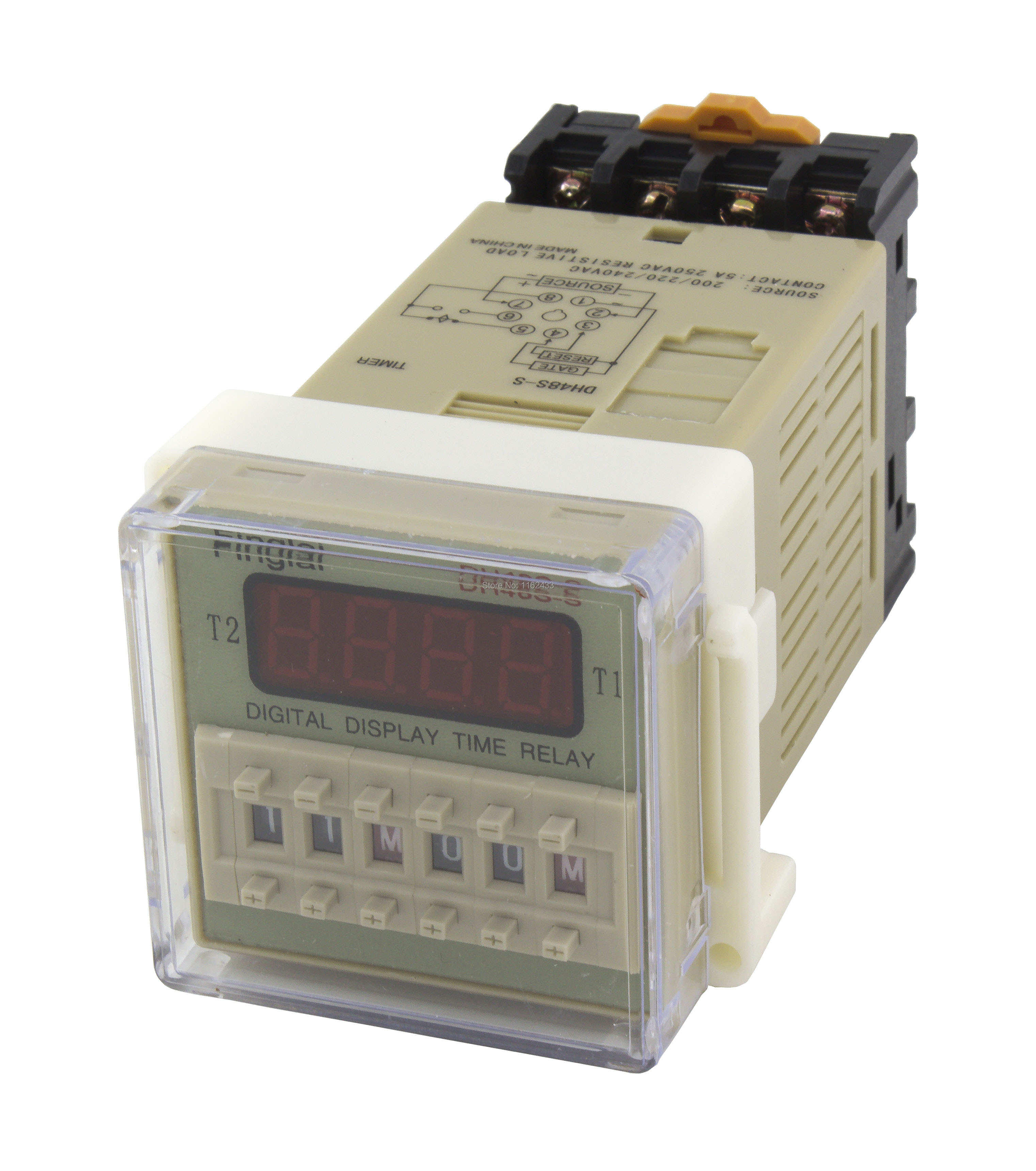 Free Shipping Dh48s S Repeat Cycle Spdt Time Relay With Socket Solid State 5v Series Delay Timer Base Ac 220v 110v Dc 24v 12v In Relays From Home Improvement