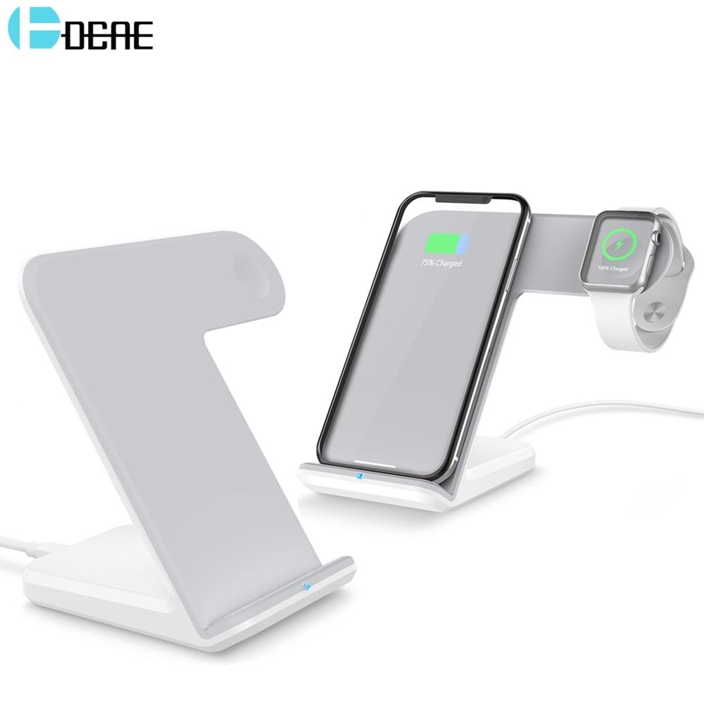 DCAE 2 in 1 Qi Wireless Charger Berdiri Untuk iPhone 11 Pro XS MAX XR - Aksesori dan suku cadang ponsel - Foto 1