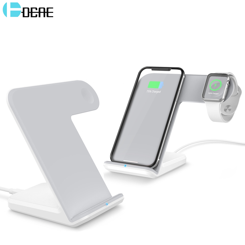 DCAE Qi Wireless Charger For iPhone XS MAX XR X 8 Plus 10W Fast Charging Dock Station For Samsung S9 S8 For Apple Watch 1 2 3 4DCAE Qi Wireless Charger For iPhone XS MAX XR X 8 Plus 10W Fast Charging Dock Station For Samsung S9 S8 For Apple Watch 1 2 3 4