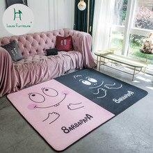 Модный коврик для ползания в скандинавском стиле, ковер для гостиной, прикроватная тумбочка для спальни, милый домашний простой современный коврик