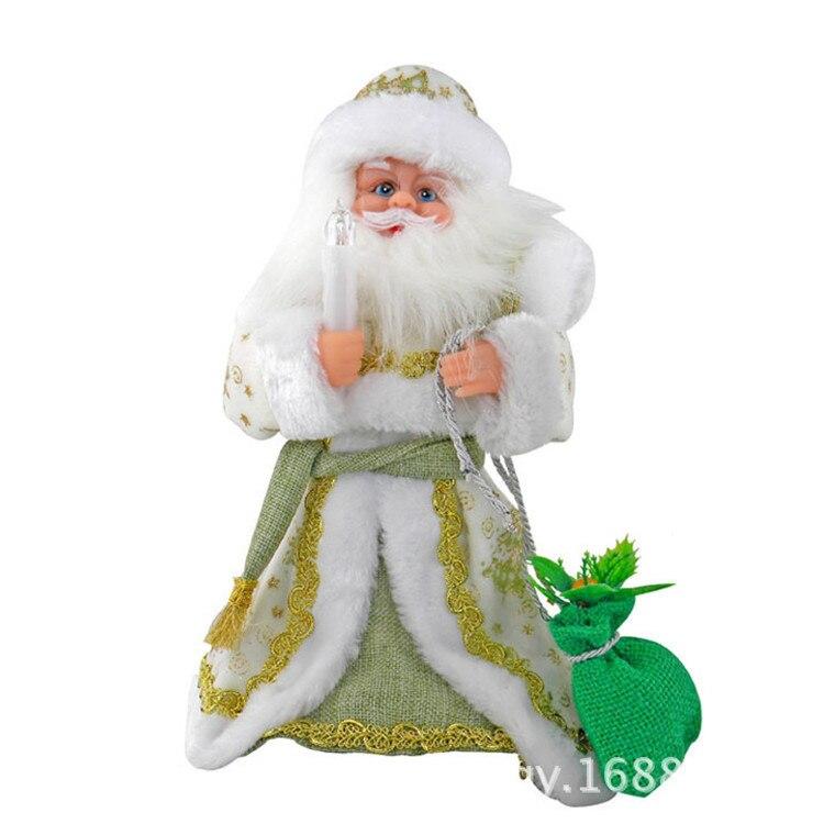 falando brinquedos elétrica musical natal boneca decorações