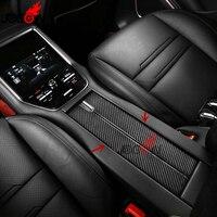 2pcs For Porsche Panamera 971 2017 2018 Car Interior Central Console Container Box Panel Trim Real Carbon Fiber