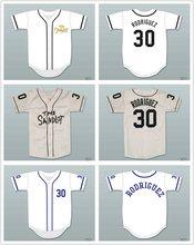 Mike Vitar Benny  The Jet  Rodriguez 30 White Baseball Jersey The Sandlot  Big   9b2275fd9