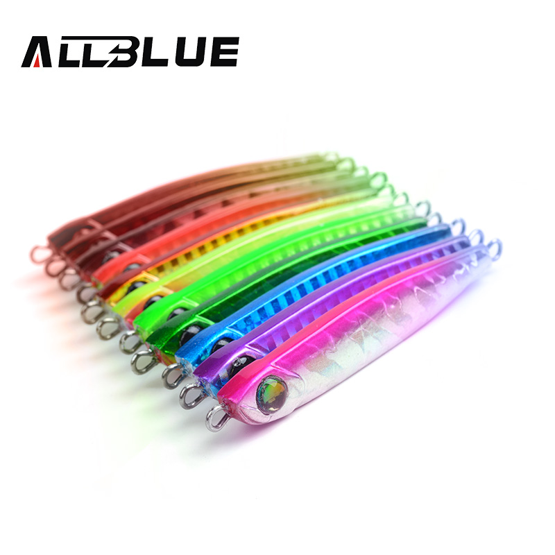 ALLBLUE High Quality Metal Jigging Spoon 35g 3D Eyes Artificial Bait Boat Fishing Jig Lures Super Hard Lead Fish Fishing Lures nils master baby shad 5cm vertical jigging ice fishing lures