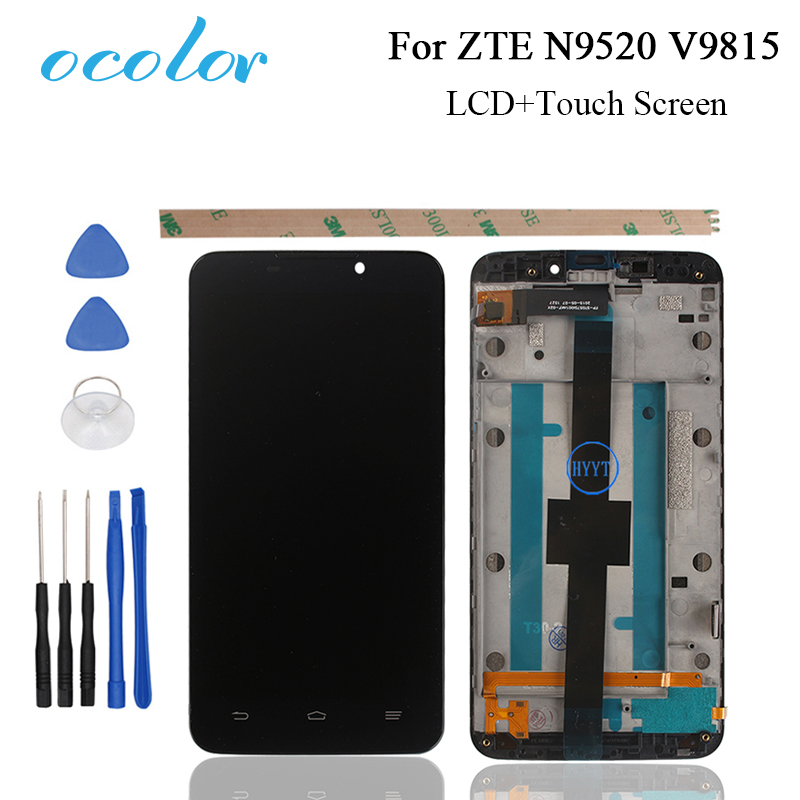 ocolor For ZTE Grand Memo N5 N9520 ZTE V9815 LCD Display and Touch Screen With Frame Screen Digitizer Assembly+Tools Mobile