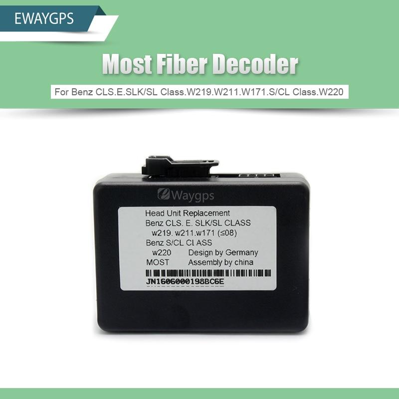 Most Fiber Decoder For Benz CLS.E.SLK/SL Class.W219.W211.W171.S/CL Class.W220 yandex w205 amg style carbon fiber rear spoiler for benz w205 c200 c250 c300 c350 4door 2015 2016 2017