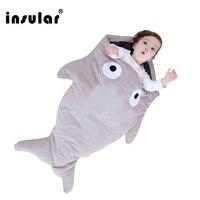 Insular Cute Carton Shark Baby Sleeping Bag Winter Baby Sleep Sack Warm Baby Blanket Warm Swaddle Children Sleeping Bag