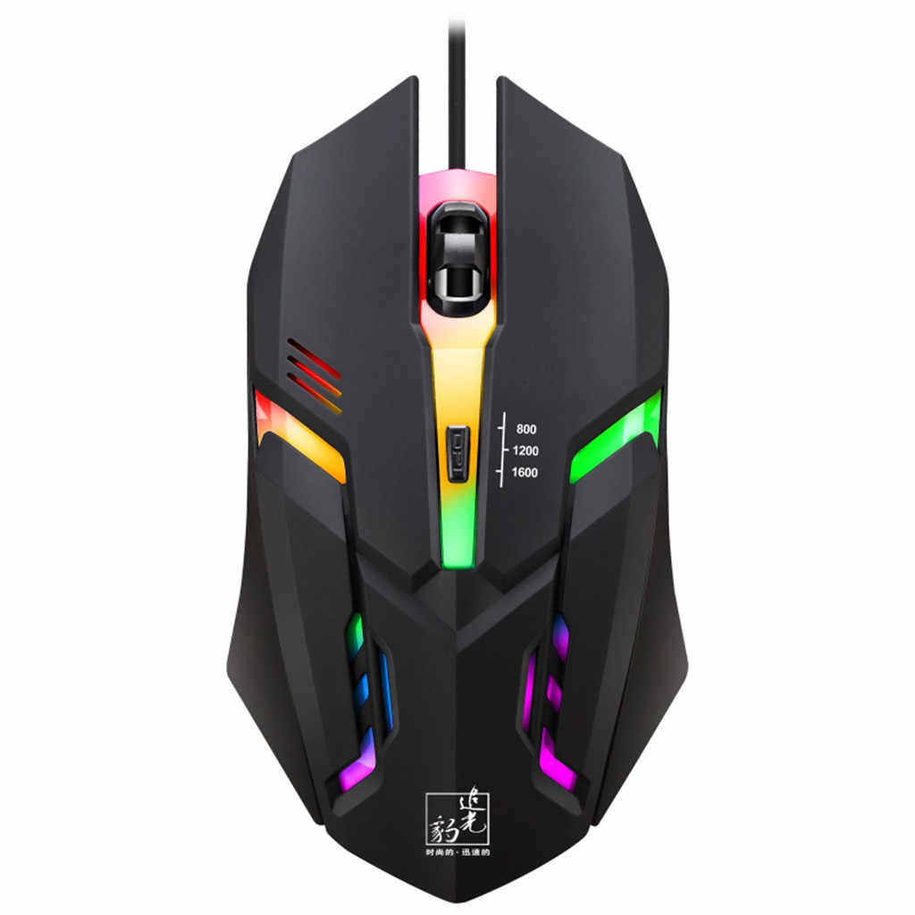 Mouse Raton Wired LED Light USB Optical Ergonomic Gaming Mice Mouse Professional Mice For PC Laptop computer mouse 19Feb1