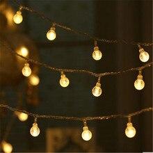Decoración de la boda de La Novedad 10 M LED Festoon Luz de la Secuencia bola de Cristal Lámparas Luces de Navidad Garland Justo Guirlande Lumineuse