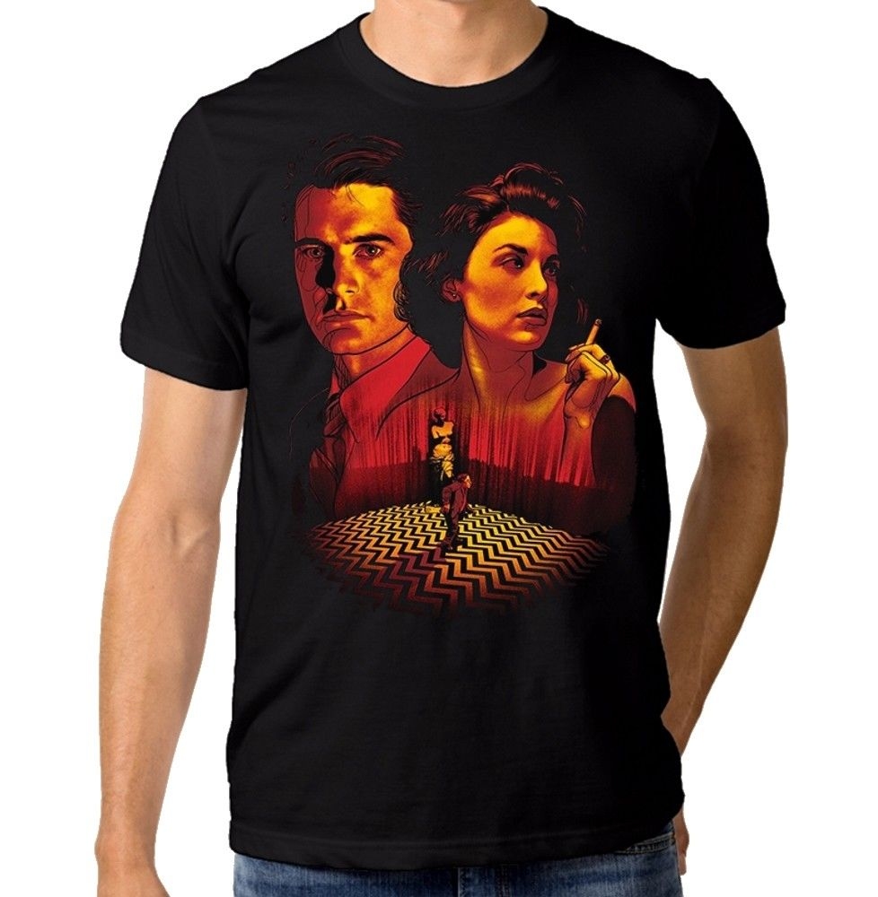 Twin Peaks Art T-Shirt, Dale Cooper Mens Womens Tee, All Sizes Short Sleeves Cotton T Shirt Free Shipping TOP TEE